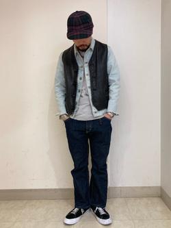 Lee アミュプラザ博多店のえんどうさんのLeeのAMERICAN RIDERS 102 ブーツカットジーンズを使ったコーディネート