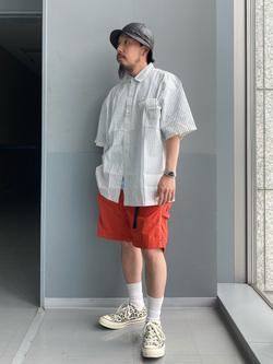 Lee アミュプラザ博多店のえんどうさんのLeeのボックスフィット 半袖シャツを使ったコーディネート