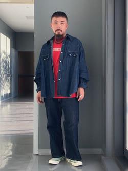 Lee アミュプラザ博多店のえんどうさんのLeeのSUPERSIZED ブーツカットを使ったコーディネート