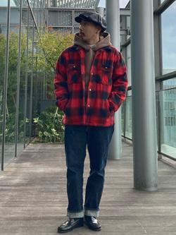 Lee アミュプラザ博多店のえんどうさんのLeeの【さらっと羽織れる】シャツジャケットを使ったコーディネート