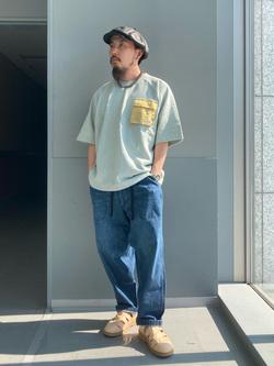 Lee アミュプラザ博多店のえんどうさんのLeeの【ストレスフリーな穿き心地】ラクして決まる イージーワイドパンツを使ったコーディネート