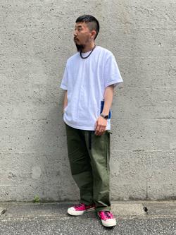 Lee アミュプラザ博多店のえんどうさんのLeeの【直営店・WEB限定】ペインターポケット半袖Tシャツを使ったコーディネート