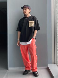 Lee アミュプラザ博多店のえんどうさんのLeeの【PreSALE】ラウンドヘム 半袖Tシャツを使ったコーディネート