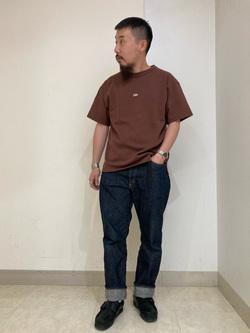 Lee アミュプラザ博多店のえんどうさんのLeeの【Pre sale】【ユニセックス】ヘビーウエイト Tシャツを使ったコーディネート