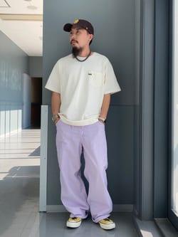 Lee アミュプラザ博多店のえんどうさんのLeeの終了【SALE】【軽くて涼しい】リラックス ペインターパンツを使ったコーディネート
