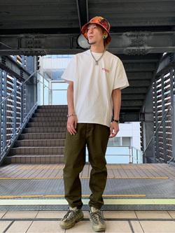 DENIM GALAXY日暮里店のYuさんのEDWINの【EDWIN 60周年限定】 クルーネック 半袖Tシャツ Bを使ったコーディネート