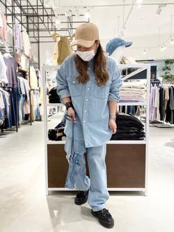 西宮ガーデンズ店のanさんのLeeのバンドカラー デニム/コットン 長袖シャツを使ったコーディネート