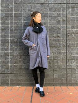 大阪店のwakanaさんのLeeの【ユニセックス】【やわらかフリース】ノーカラーコートを使ったコーディネート