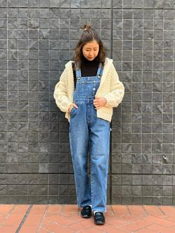 大阪店のwakanaさんのLeeの【オールシーズン着回せる】オーバーオール テーパードを使ったコーディネート