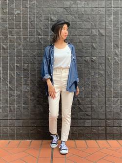 大阪店のwakanaさんのLeeの【Winter sale】【直営店&WEB限定】ビッグフィット とろみデニムシャツを使ったコーディネート