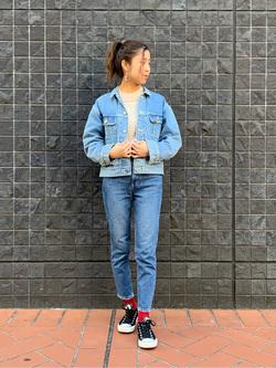 大阪店のwakanaさんのLeeのSTANDARD WARDROBE スリムを使ったコーディネート