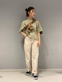 大阪店のwakanaさんのLeeのペインター ワイドデニムパンツを使ったコーディネート