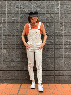 大阪店(閉店)のwakanaさんのLeeの終了【再値下げ!サマーセール】ノースリーブTシャツを使ったコーディネート