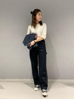 大阪店のwakanaさんのLeeの【再値下げSALE】ヘンリーネック Tシャツを使ったコーディネート