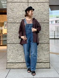 ルクア大阪のwakanaさんのLeeの【試着対象】【オールシーズン着回せる】オーバーオール テーパードを使ったコーディネート