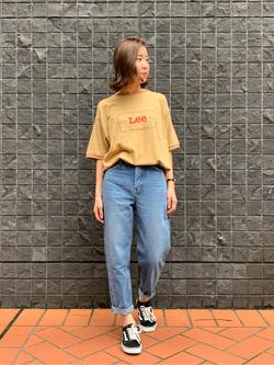 大阪店のwakanaさんのLeeの終了【再値下げ!サマーセール】リンガーTシャツ 半袖を使ったコーディネート