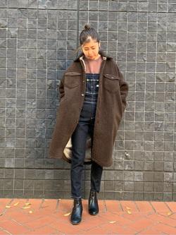 大阪店のwakanaさんのLeeの【すっきり着こなす】オーバーオール ストレッチスリムを使ったコーディネート