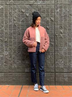 大阪店のwakanaさんのLeeの【ユニセックス】フリースジップアップジャケットを使ったコーディネート