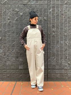 大阪店のwakanaさんのLeeのワークミリタリー オーバーオールを使ったコーディネート