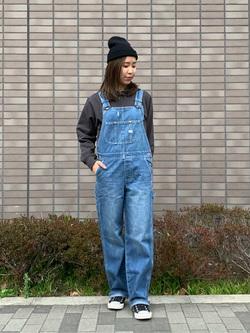 大阪店のwakanaさんのLeeのワンポイントロゴ刺繍フーディ/パーカー【ユニセックス】を使ったコーディネート