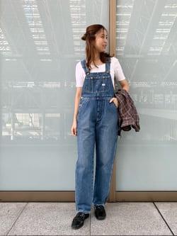 ルクア大阪のwakanaさんのLeeのチェック柄 長袖シャツを使ったコーディネート