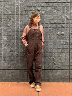 大阪店のwakanaさんのLeeの【ユニセックス】ミニロゴ刺繍 フーディ/パーカーを使ったコーディネート