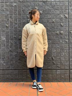 大阪店のwakanaさんのLeeの【Pre sale】【ユニセックス】【着回し力抜群】フリース コートを使ったコーディネート