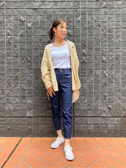 大阪店のwakanaさんのLeeのスタンドカラー長袖シャツを使ったコーディネート