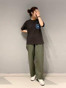 大阪店のwakanaさんのLeeの【予約】【XSからXXLまでを1サイズでカバーする】FLeeasy イージーパンツ【6月下旬頃発送予定】を使ったコーディネート