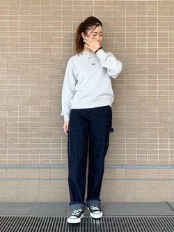 ルクア大阪のwakanaさんのLeeのバックプリント スウェットを使ったコーディネート