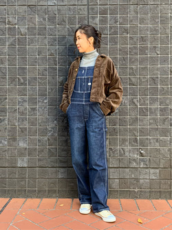 大阪店のwakanaさんのLeeの【感謝祭15%OFFクーポン対象】【年間定番&ベストセラー】オーバーオールを使ったコーディネート
