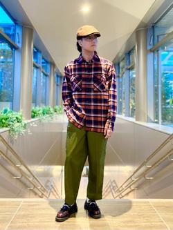 エスパル仙台店のRyuさんのLeeの【トップス15%OFFクーポン対象】チェックワークシャツ 長袖を使ったコーディネート