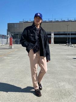 エスパル仙台店のRyuさんのLeeのBLACK RIDERS デニムジャケットを使ったコーディネート