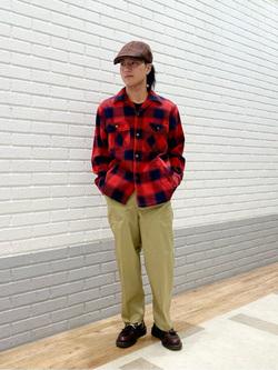 エスパル仙台店のRyuさんのLeeの【トップス15%OFFクーポン対象】【さらっと羽織れる】シャツジャケットを使ったコーディネート