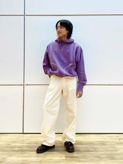 エスパル仙台店のRyuさんのLeeの【柔らかい風合い】ステッチワーク パーカーを使ったコーディネート