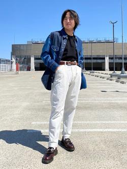 エスパル仙台店のRyuさんのLeeのピエロシャツ/パッチワークデニムシャツを使ったコーディネート