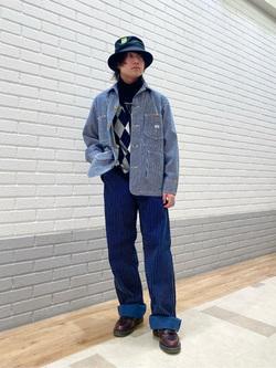エスパル仙台店のRyuさんのLeeのカバーオールジャケットを使ったコーディネート