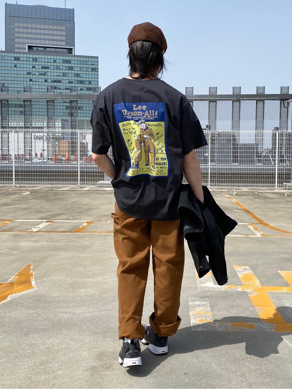 エスパル仙台店のRyuさんのLeeのバックプリント 半袖Tシャツを使ったコーディネート