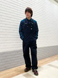 エスパル仙台店のRyuさんのLeeの終了【Winter sale】チェックワークシャツ 長袖を使ったコーディネート
