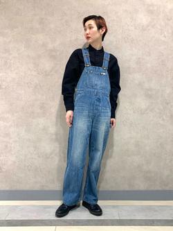 Lee 名古屋店のアンジェラさんのLeeのバンドカラーシャツ/長袖を使ったコーディネート