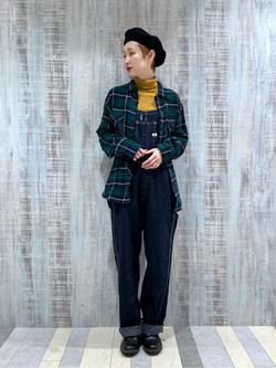 Lee 名古屋店のアンジェラさんのLeeのチェックワークシャツ 長袖を使ったコーディネート