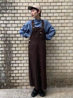 Lee 名古屋店のアンジェラさんのLeeの【15%OFFクーポン対象】オーバーオール スカートを使ったコーディネート