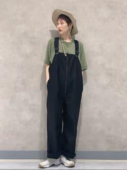 Lee 名古屋店のアンジェラさんのLeeの【Lee×GRAMICCI(グラミチ)】オーバーオールを使ったコーディネート