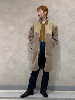 Lee 名古屋店のアンジェラさんのLeeの【ユニセックス】【着回し力抜群】フリース コートを使ったコーディネート