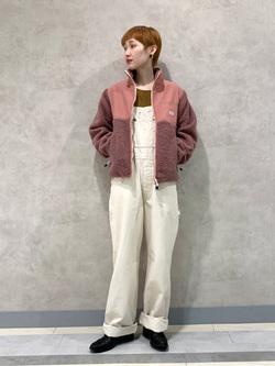 Lee 名古屋店のアンジェラさんのLeeの【ユニセックス】フリースジップアップジャケットを使ったコーディネート