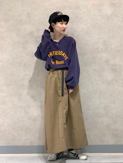 Lee 名古屋店のアンジェラさんのLeeの【Lee×GRAMICCI(グラミチ)】ロングスカートを使ったコーディネート