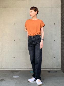 Lee 名古屋店のアンジェラさんのLeeの【サーマル素材】ノースリーブTシャツを使ったコーディネート