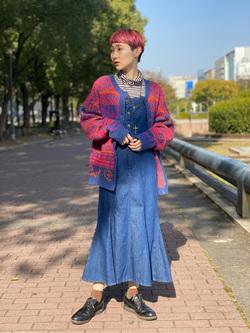 Lee 名古屋店のアンジェラさんのLeeの【再値下げ Winter sale】TRAD GIRL サロペット ロングスカートを使ったコーディネート