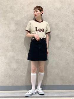 Lee 名古屋店のアンジェラさんのLeeのリンガー 半袖Tシャツを使ったコーディネート