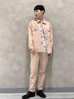 Lee 名古屋店のアンジェラさんのLeeの【セットアップ対応】シャツジャケットを使ったコーディネート